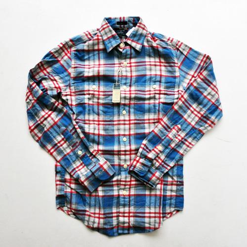 J.CREW / ジェイクルー ロングスリーブチェックシャツ ブルー×レッド