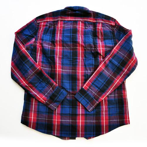 J.CREW/ジェイクルー 長袖ボタンチェックシャツ レッド×ネイビー BIG SIZE - 1