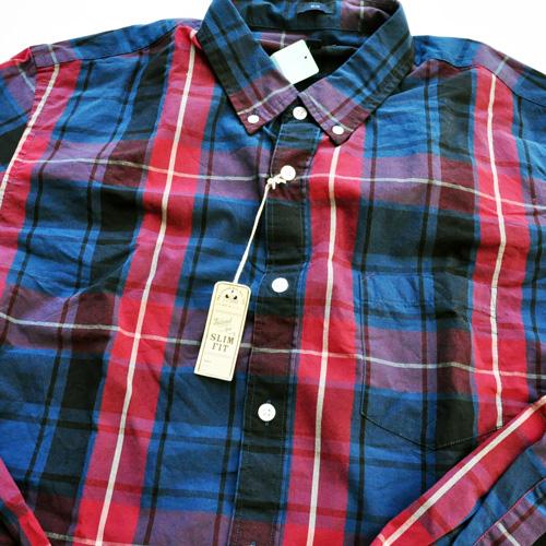 J.CREW/ジェイクルー 長袖ボタンチェックシャツ レッド×ネイビー BIG SIZE - 2