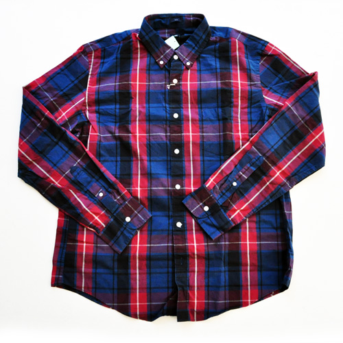 J.CREW/ジェイクルー 長袖ボタンチェックシャツ レッド×ネイビー BIG SIZE