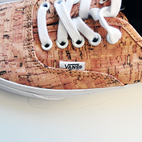VANS AUTHENTIC (CORK) TAN/TRUE WHITE - 2