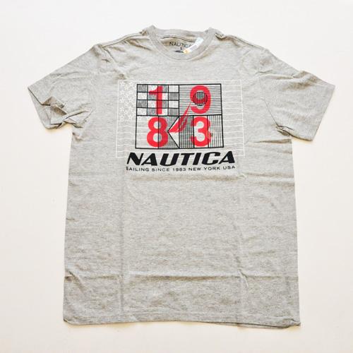 NAUTICA/ノーティカ SAILING半袖Tシャツ グレー