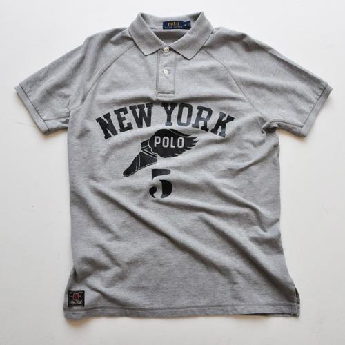 Polo Ralph Lauren / ポロ ラルフローレン ウイングフット半袖ポロシャツ グレー
