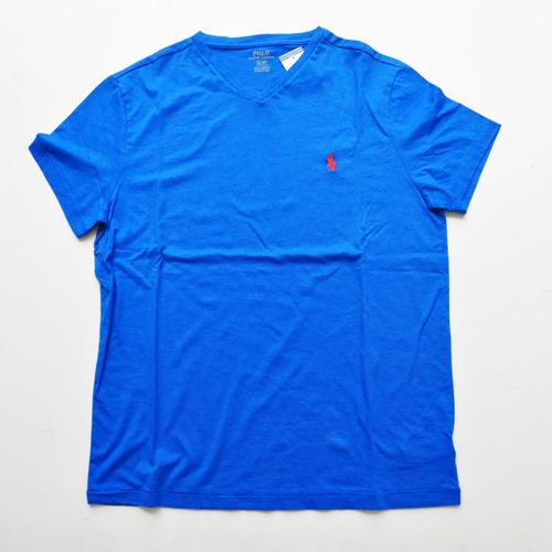 RALPH LAUREN/ラルフローレン 1ポイントポニーVネックTシャツ New York Metsカラー