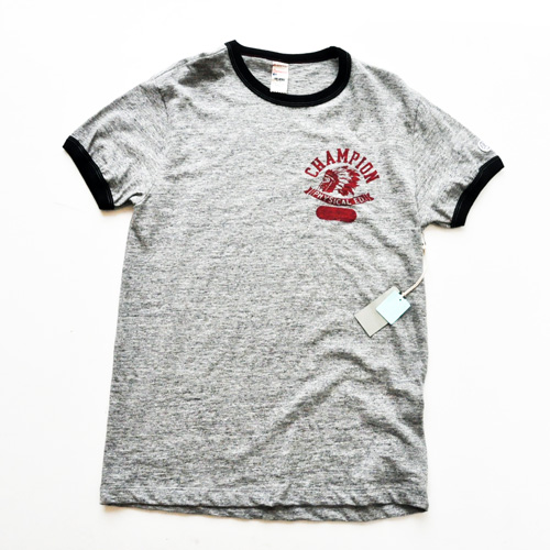 TODD SNYDER×CHAMPION INDIAN HEAD ヴィンテージリンガーTシャツ