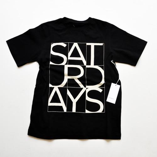 SATURDAYS SURF NYC/サタデェーズサーフ フロントプリントTシャツ