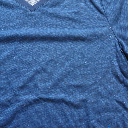 AMERICAN RAG CIE / アメリカンラグシー VネックボーダーグラフィックTシャツ - 2