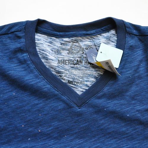 AMERICAN RAG CIE / アメリカンラグシー VネックボーダーグラフィックTシャツ - 3