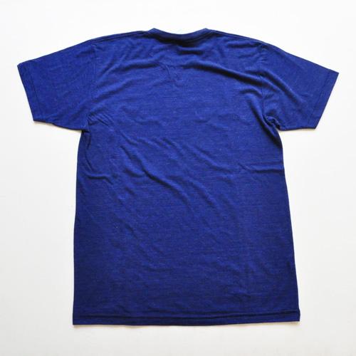 WEST NYC フロントプリントロゴ半袖Tシャツ ネイビー - 1