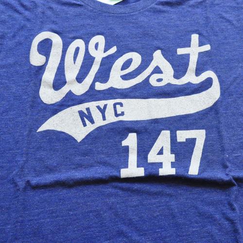 WEST NYC フロントプリントロゴ半袖Tシャツ ネイビー - 2