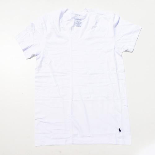 RALPH LAUREN/ラルフローレン 1ポイントポニーVネックTシャツ ホワイト