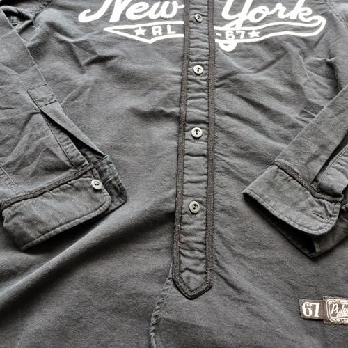 RALPH LAUREN/ラルフローレン ベースボールボタンシャツ ブラック-4