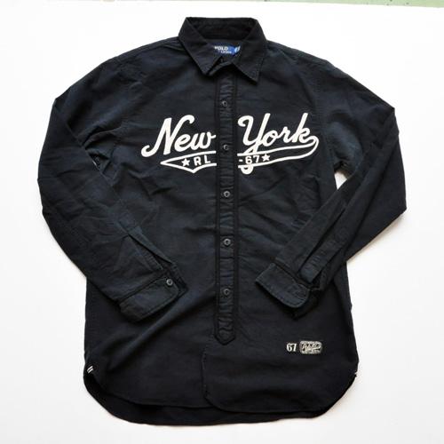 RALPH LAUREN/ラルフローレン ベースボールボタンシャツ ブラック