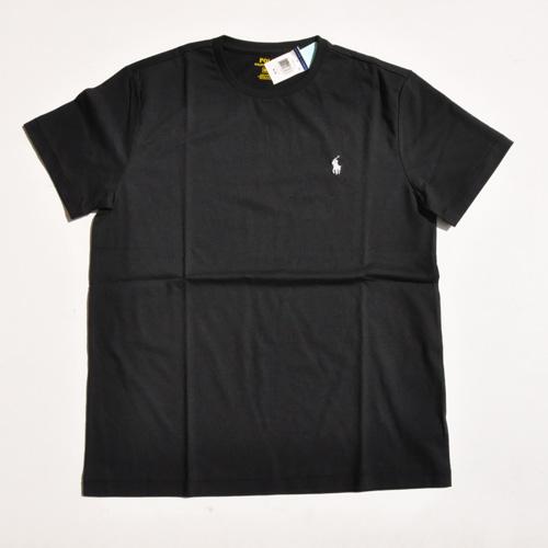 RALPH LAUREN/ラルフローレン 1ポイントポニーUネックTシャツ ブラック