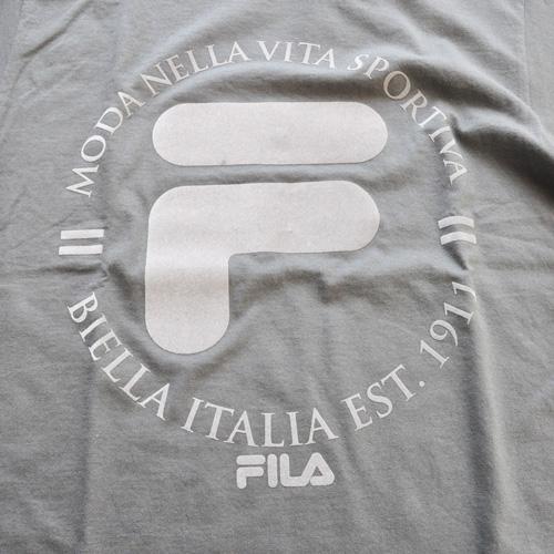 FILA / フィラ フェルトロゴ Tシャツ グレー -3