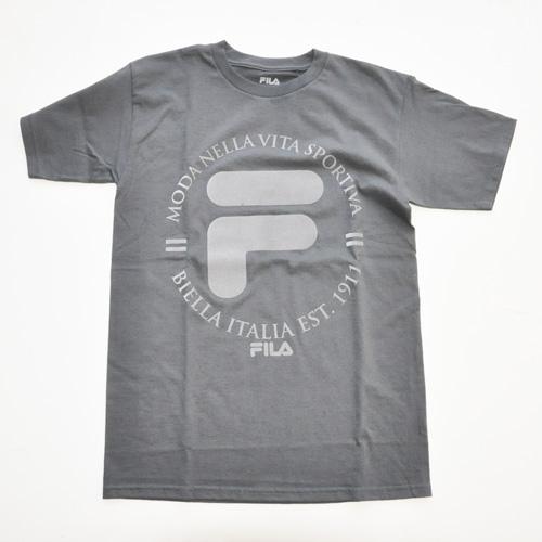 FILA / フィラ フェルトロゴ Tシャツ グレー