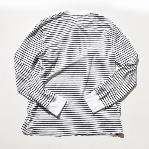 POLO RALPH LAUREN/ラルフローレン ロングスリーブヘンリーボーダーTシャツ - 1
