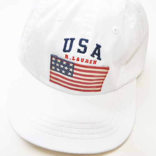POLO RALPH LAUREN/ラルフローレン  US FLAG CAP (WHITE) - 1