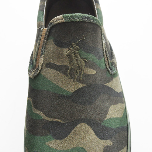POLO RALPH LAUREN/ポロ ラルフローレン  OLIVE CAMO SILKY SUEDE SLIP ON-4