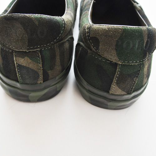 POLO RALPH LAUREN/ポロ ラルフローレン  OLIVE CAMO SILKY SUEDE SLIP ON-5
