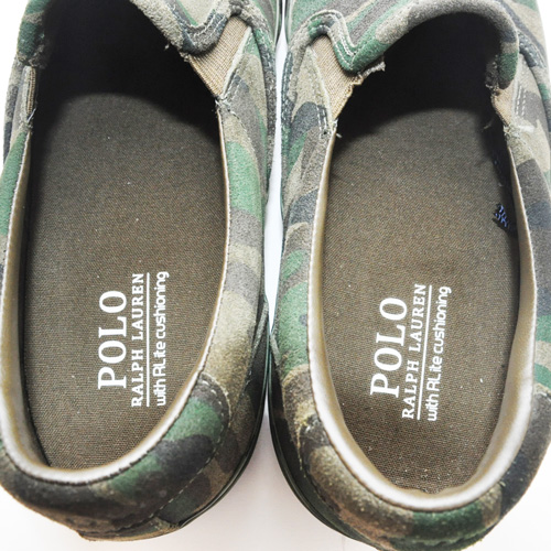POLO RALPH LAUREN/ポロ ラルフローレン  OLIVE CAMO SILKY SUEDE SLIP ON-6