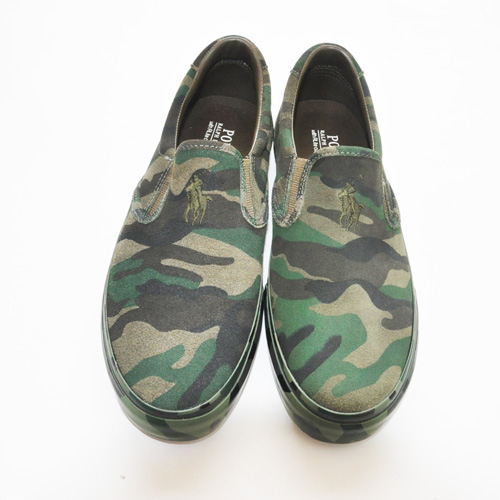 POLO RALPH LAUREN/ポロ ラルフローレン  OLIVE CAMO SILKY SUEDE SLIP ON