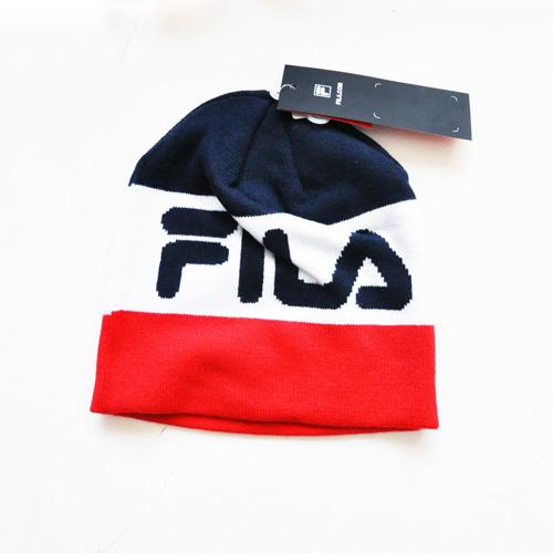 FILA / フィラ トリコロールビッグロゴ トリコロールビーニー
