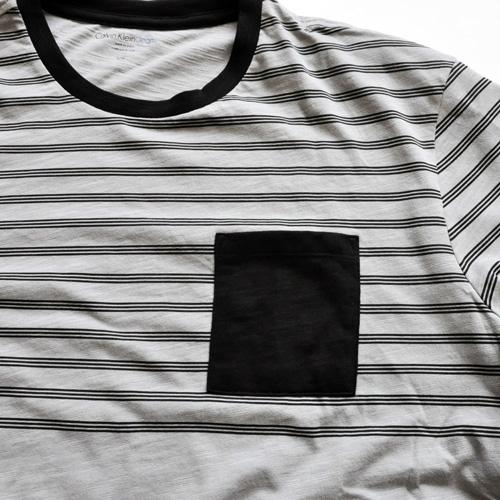 Calvin Klein / カルバンクライン ボーダーポケットTシャツ - 2