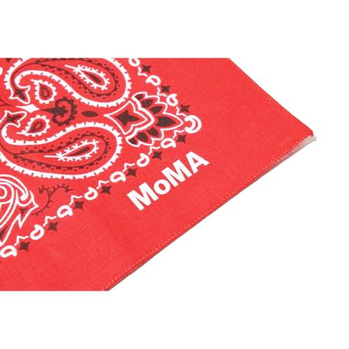 MOMA / モマ PAISLEY BANDANA MoMA LIMITED MADE IN USA RED ペイズリー バンダナ モマ ニューヨーク - 1
