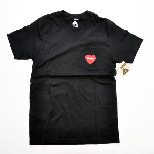 POLER / ポーラー FULLY HEART ポケットTシャツ ブラック