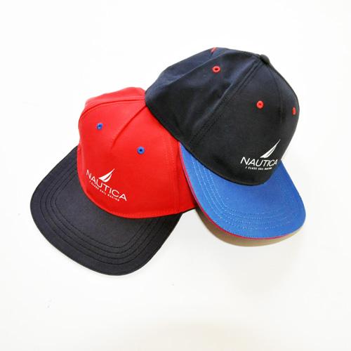 NAUTICA / ノーティカ アイコンロゴ SNAPBACK CAP ネイビー/レッド