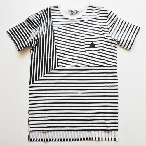 PRPS GOODS&CO. / ピーアールピーエス グッズ&コー STRIPED POCKET TEE