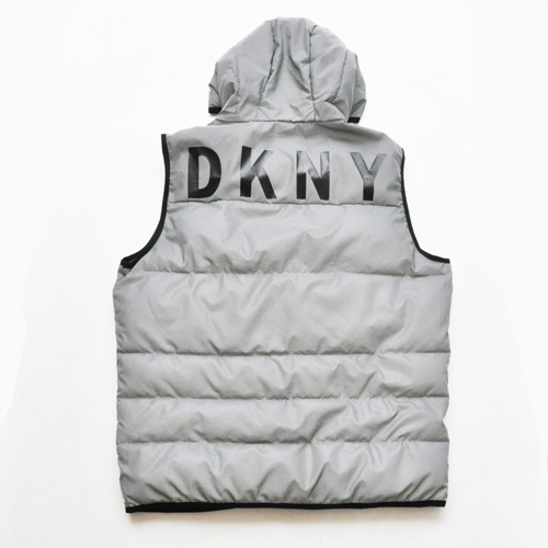 DKNY/ダナキャラン CLASSIC HOODED LOGO  リフレクターキルティングベスト-2