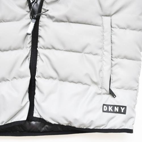 DKNY/ダナキャラン CLASSIC HOODED LOGO  リフレクターキルティングベスト-5