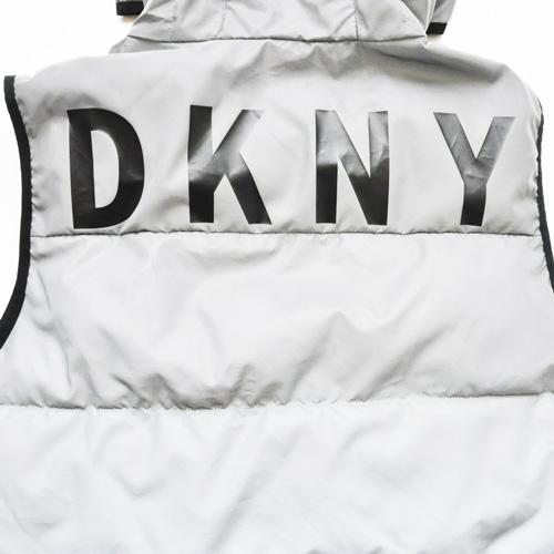 DKNY/ダナキャラン CLASSIC HOODED LOGO  リフレクターキルティングベスト-8