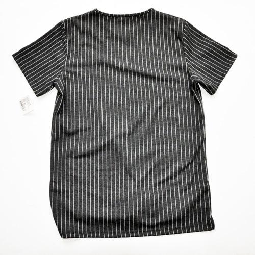 NATIVE YOUTH/ネイティブユース ストライプニット半袖シャツ - 1