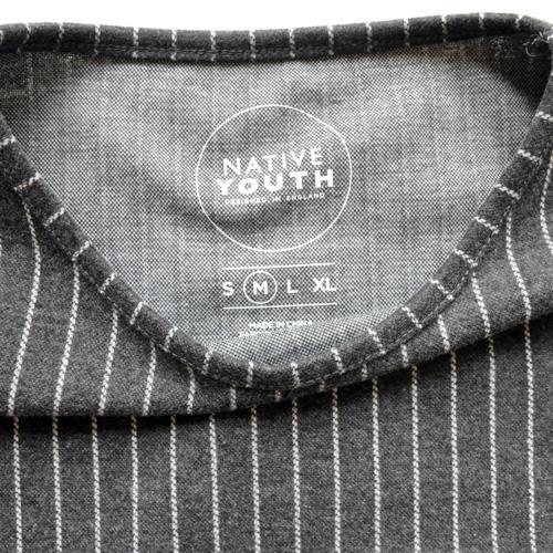 NATIVE YOUTH/ネイティブユース ストライプニット半袖シャツ - 2
