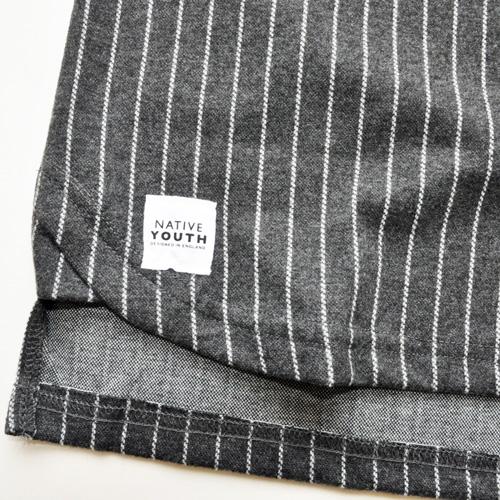 NATIVE YOUTH/ネイティブユース ストライプニット半袖シャツ - 3