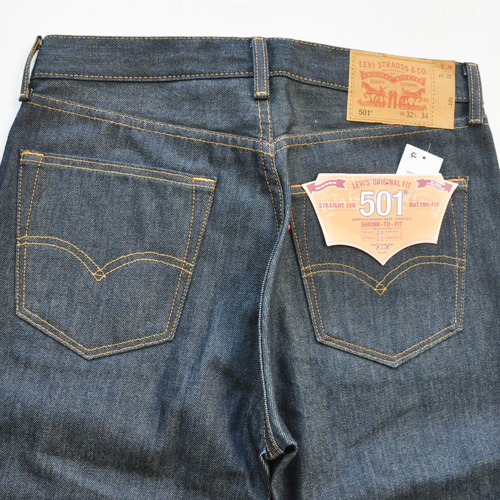 LEVI'S / リーバイス 501 STRAIGHT LEG BUTTON FLY RAW UNWASHED DENIM - 4