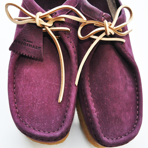 CLARKS ORIGINAL / WALLABEE PURPLE GRAPE NUBUCK US限定 - 4