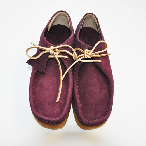 CLARKS ORIGINAL / WALLABEE PURPLE GRAPE NUBUCK US限定