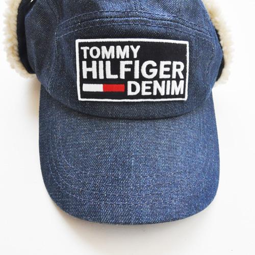 TOMMY HILFIGER DENIM /トミーヒルフィガーデニム フロントロゴフライトキャップ-2