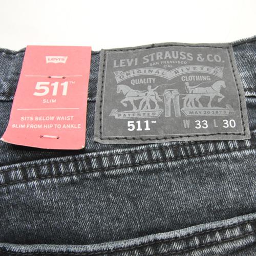 LEVI'S / リーバイス 511 SLIM FIT ウォッシュブラックデニム - 2