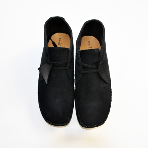 Clarks ORIGINALS/クラークス  WEAVER BOOT  BLACK SUEDE