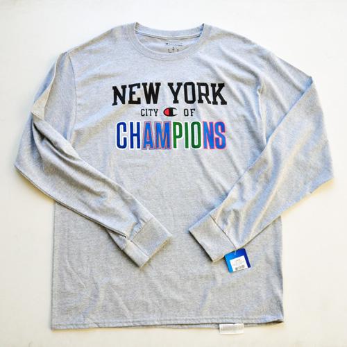 CHAMPION / チャンピオン NY CITY OF CHAMPIONS L/Sシャツ US限定