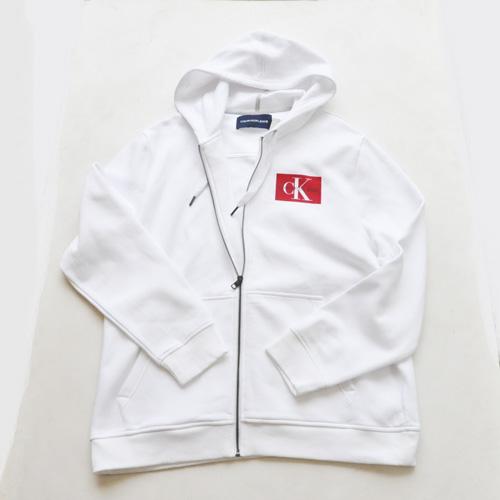 Calvin Klein /CK/ カルバンクライン ジーンズ BOXロゴ裏起毛スウェットセットアップ ホワイト BIG SIZE - 1