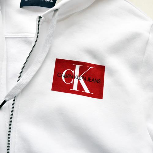 Calvin Klein /CK/ カルバンクライン ジーンズ BOXロゴ裏起毛スウェットセットアップ ホワイト BIG SIZE - 2