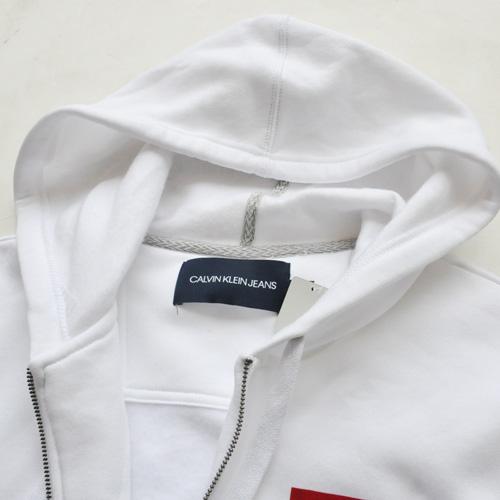 Calvin Klein /CK/ カルバンクライン ジーンズ BOXロゴ裏起毛スウェットセットアップ ホワイト BIG SIZE - 3