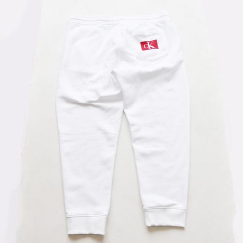 Calvin Klein /CK/ カルバンクライン ジーンズ BOXロゴ裏起毛スウェットセットアップ ホワイト BIG SIZE - 6