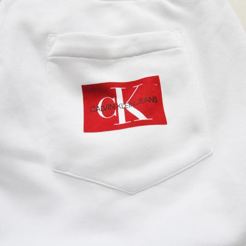 Calvin Klein /CK/ カルバンクライン ジーンズ BOXロゴ裏起毛スウェットセットアップ ホワイト BIG SIZE - 7